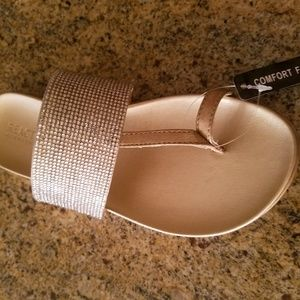 Kenneth Cole Reaction gold and silver sandals